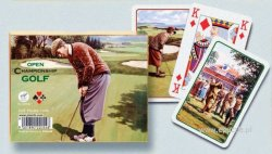 Open Chamionshio Golf - 2 x 55 Playing cards