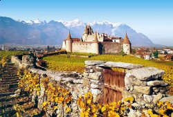 Aigle Castle, Switzerland - 1000 el