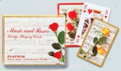 Music and Roses - 2 x 55 Playing cards